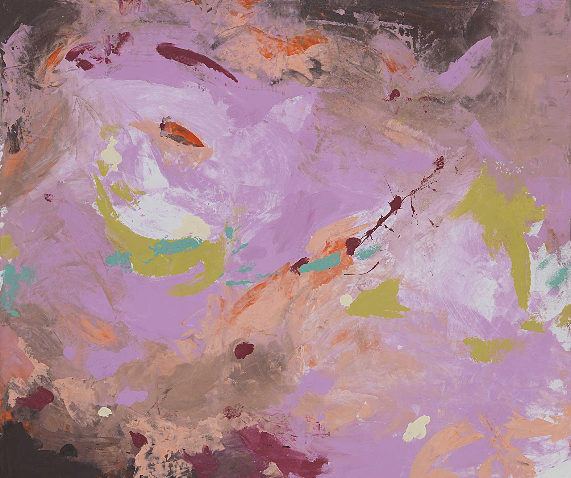 Mystère Bohème, tableau XXL Rose et gris