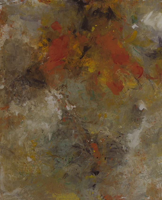 Horizon Safran - tableau contemporain d'inspiration mexicaine